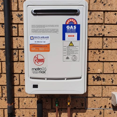 A residential Gas Hot Water Service Upgraded by South Adelaide Plumbing and Gas